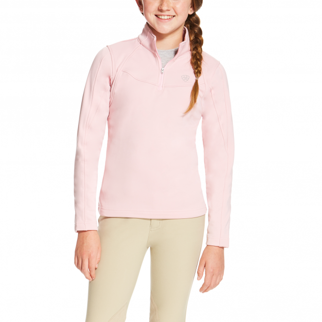 Ariat Girls Conquest 1/4 Zip Fleece - Blossom