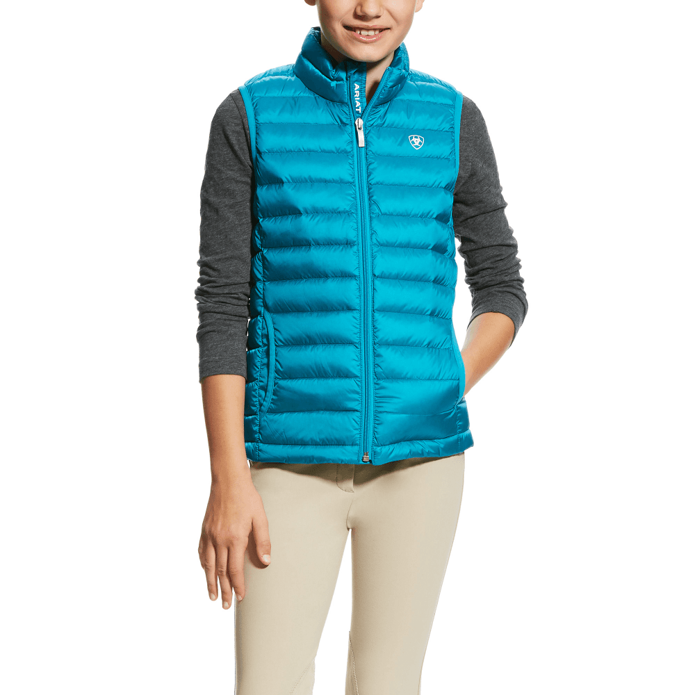 c2697be5a Ariat Girls Ideal Down Vest - Atomic Blue - Clothing from Oakfield ...