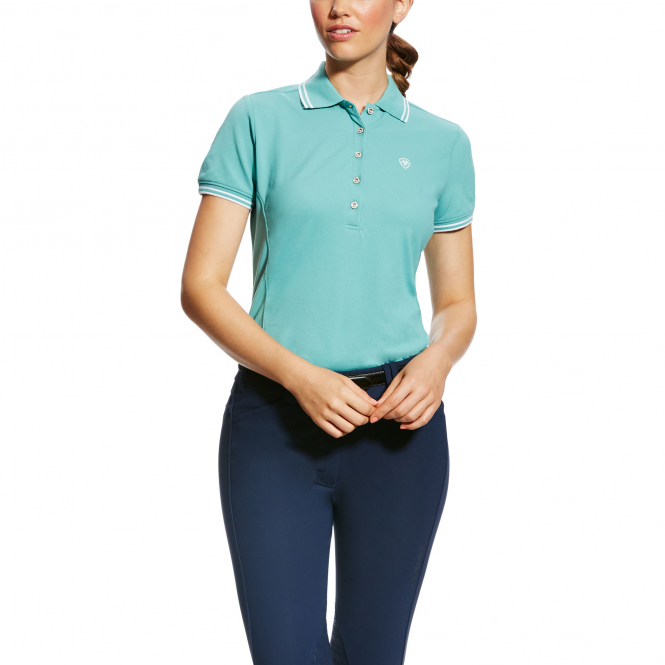 Ariat Prix Womens Classic Polo Shirt - Cold Plunge