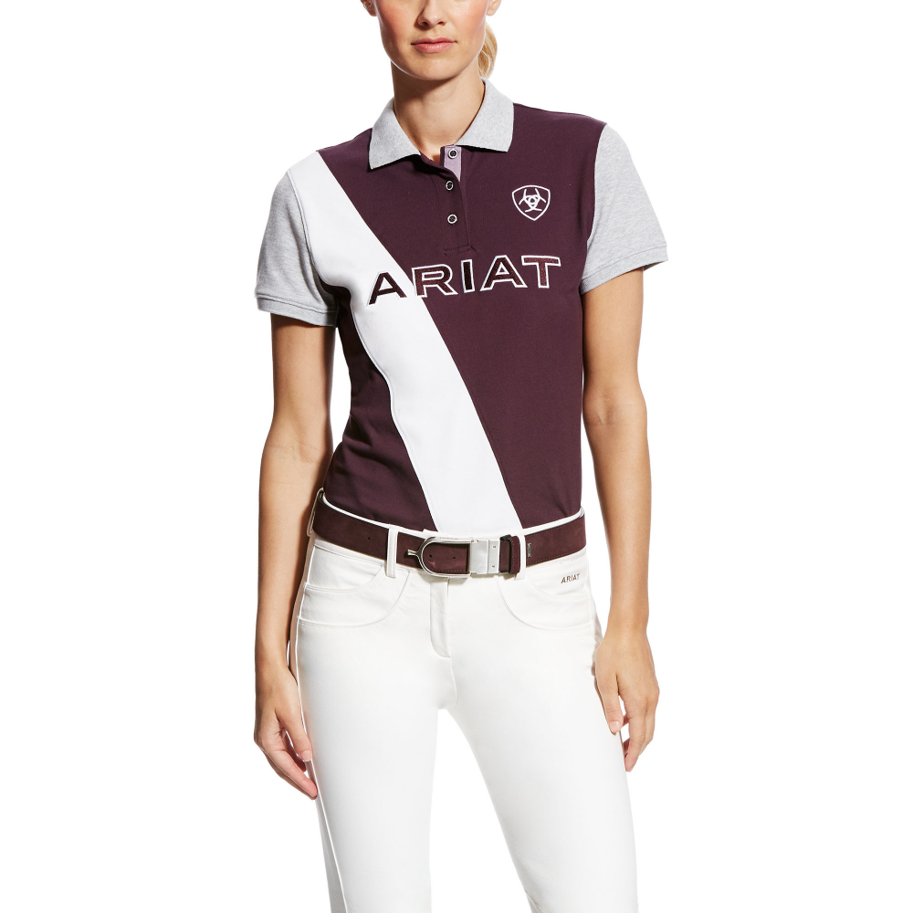 ef5d1d3c Ariat Taryn Womens Polo Shirt - Plum Perfect - Clothing from ...