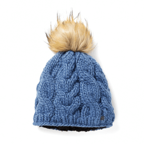 eafda0d5a6e Busse Evolet Womens Beanie Pom Pom Hat - Ice Blue - Clothing from ...