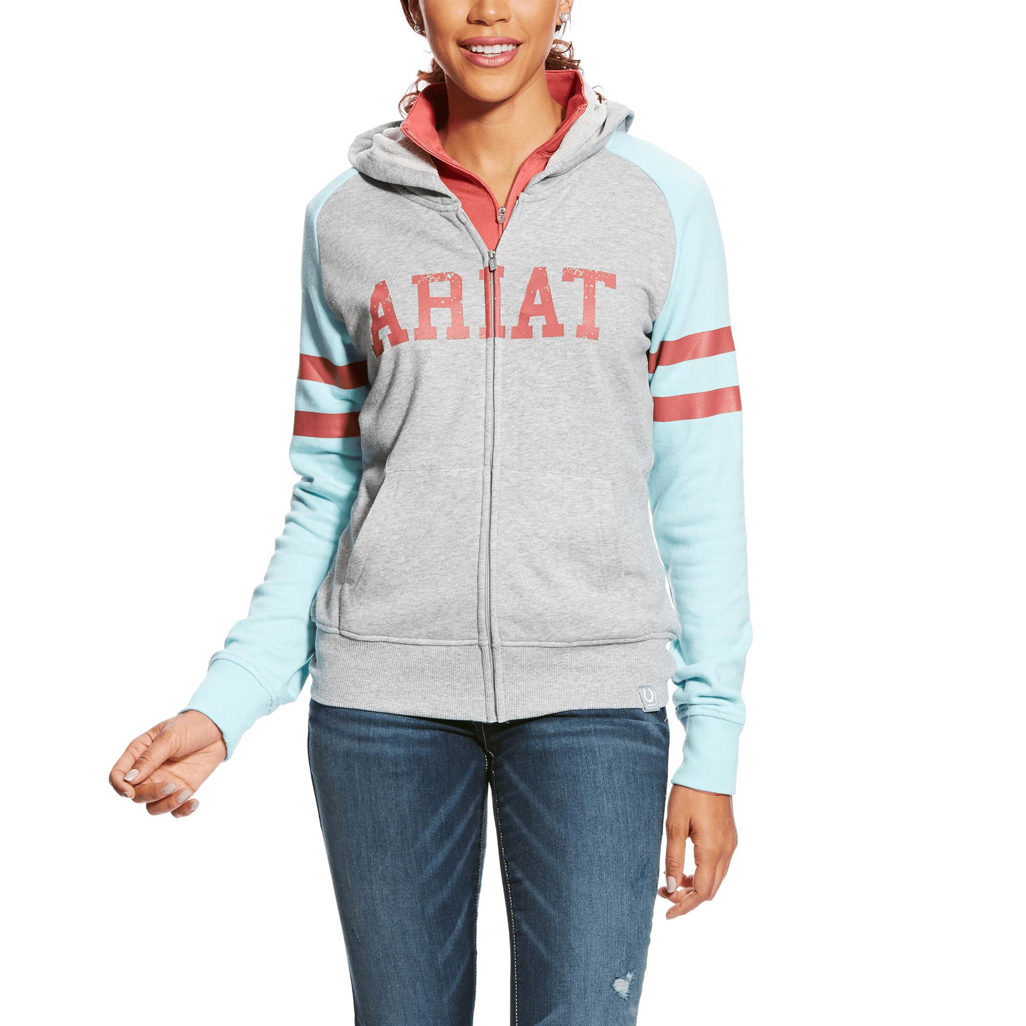 Heather Grey Ariat Womens 3D Logo Hoodie