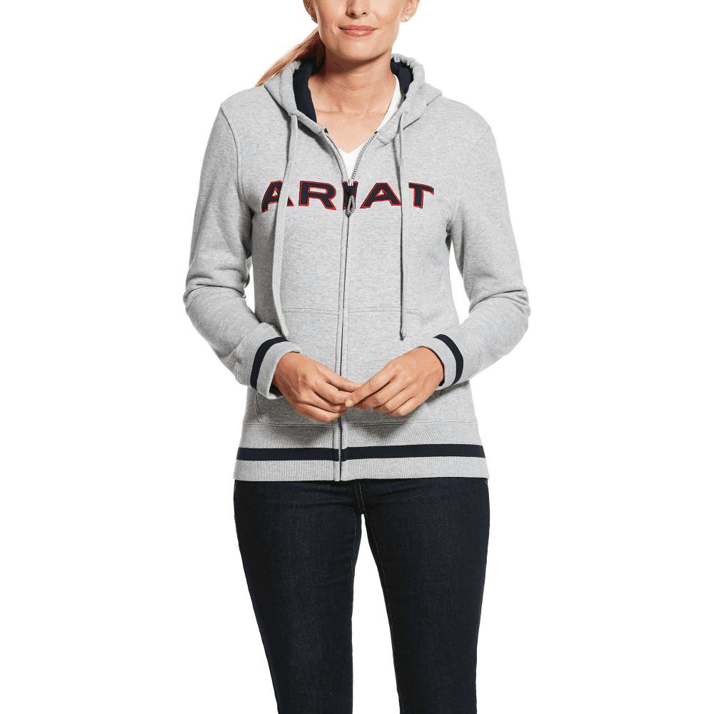 Navy Blue Ariat Womens Keats Full Zip Team Hoodie
