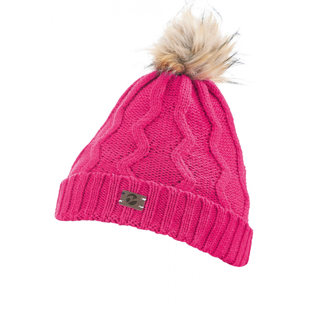 Busse Evolet Womens Beanie Pom Pom Hat - Winter Pink - Clothing from ... 1ef25891e15