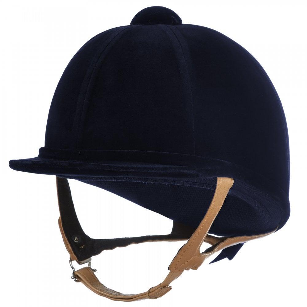 Charles Owen Ayrbrush Riding Helmet Navy//Rose Gold Pinstripe 6.3//4