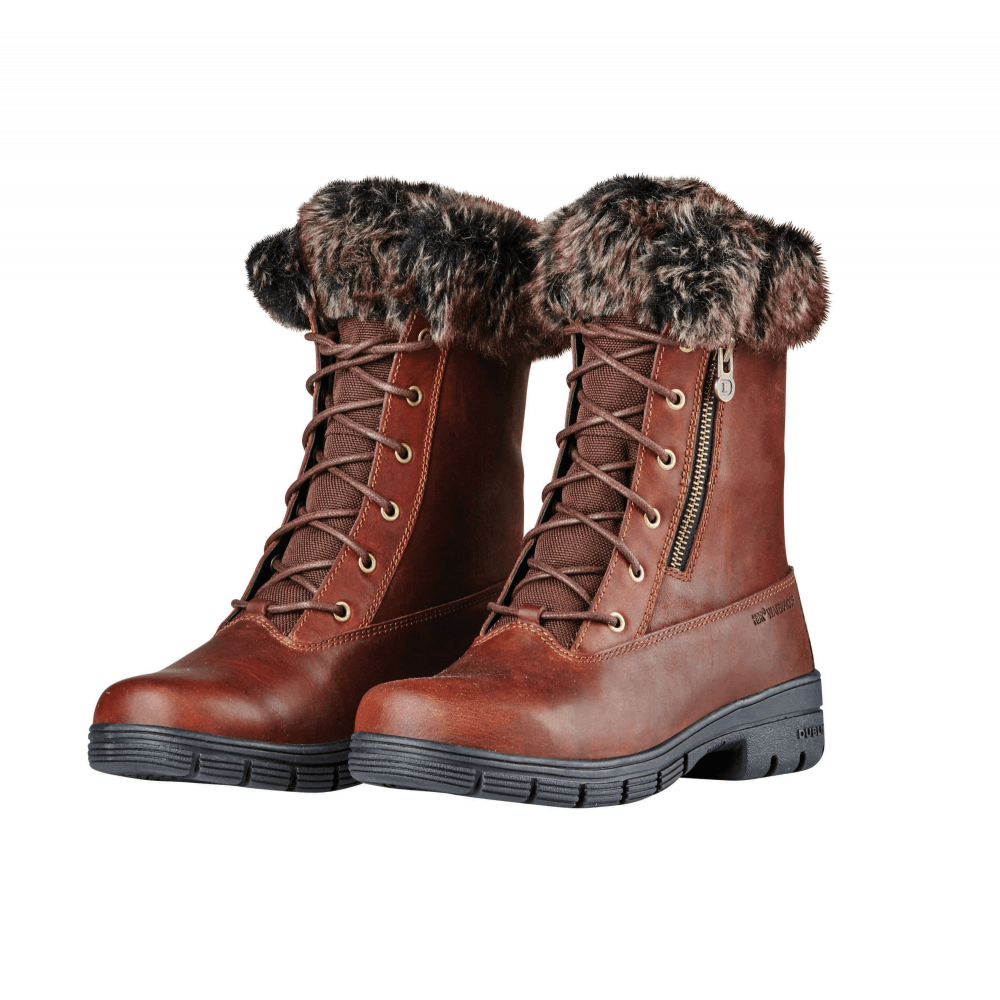 Dublin Bourne Womens Waterproof Lace Up Boots - Red Brown - Footwear ... 243c47774
