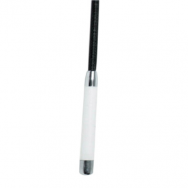 Dublin Dressage Whip With White Handle - Black 110cm