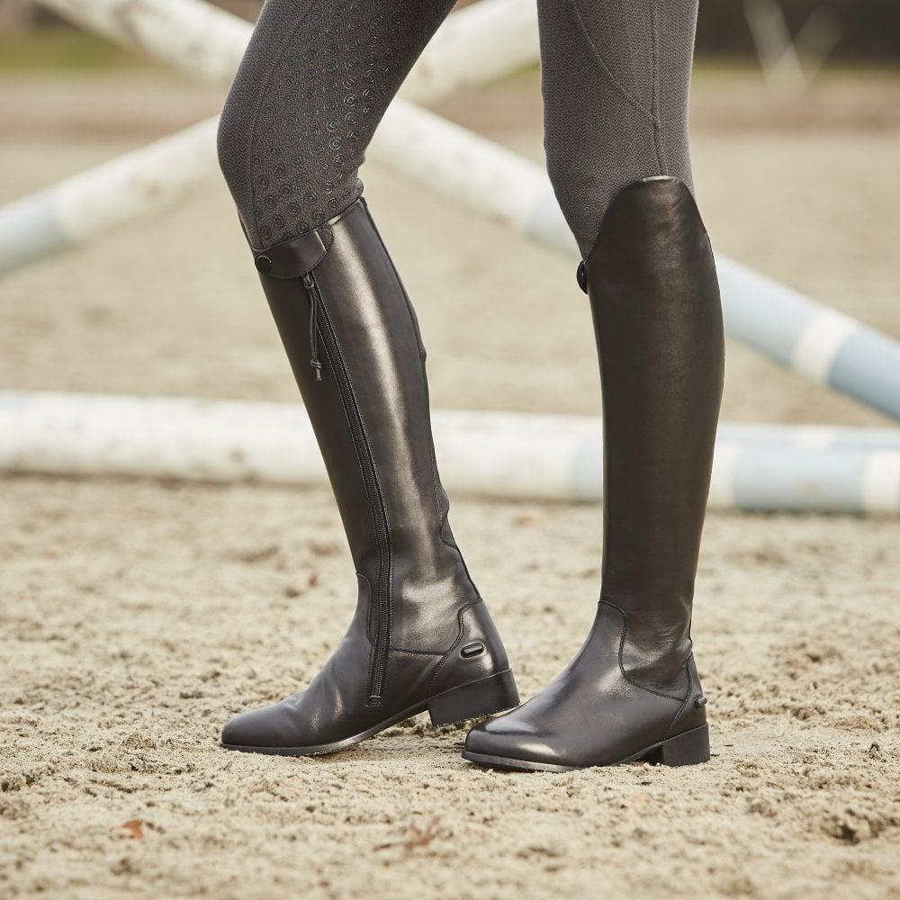cbbb66e134f75 Dublin Galtymore Ladies Tall Dress Leather Boot - Black - Footwear ...
