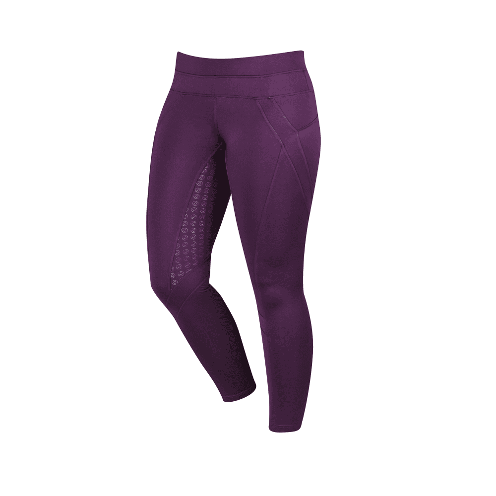 6ff0fff2be41f Dublin Performance Womens Thermal Active Riding Tights - Plum - For ...