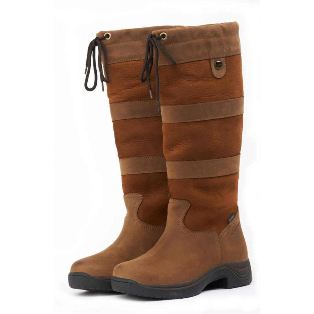 d74746a6876 Dublin River Boots With Waterproof Membrane - Dark Brown Wide Calf ...