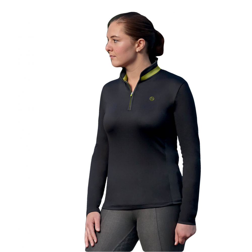 d4f5c175da58b1 Dublin Shadowfax CDT Womens Long Sleeve Zip Thru Top - Black ...