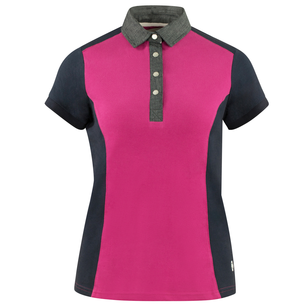 Gabi Womens Polo Shirt - Cactus Flower/Dark Navy