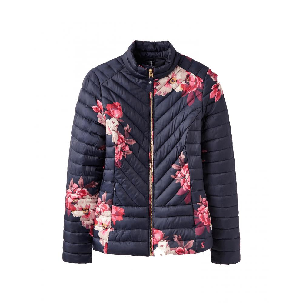bdcf247ef Elodie Print Womens Chevron Quilted Jacket - Marine Navy Bircham Bloom