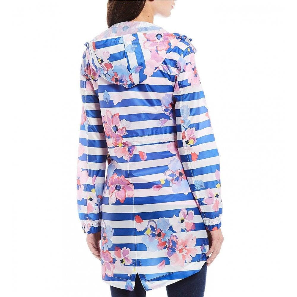 Joules Womens Golightly Packaway Waterproof Jacket in BLUE FLORAL