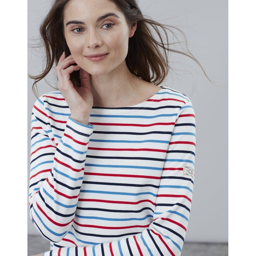 Joules Womens Harbour Long Sleeve Top Navy Multi Stripe