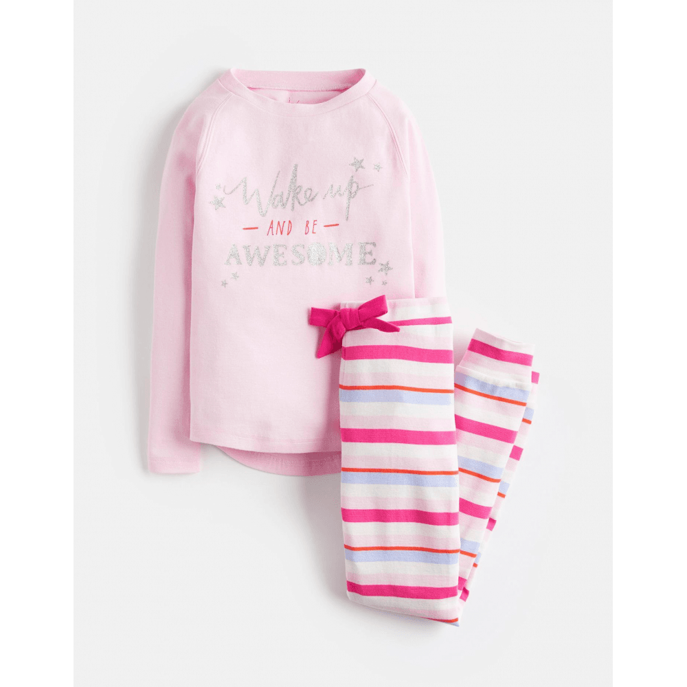 c123dd1689 Joules Junior Sleepwell Jersey Girls Pyjama Set - Pink Marl Awesome ...