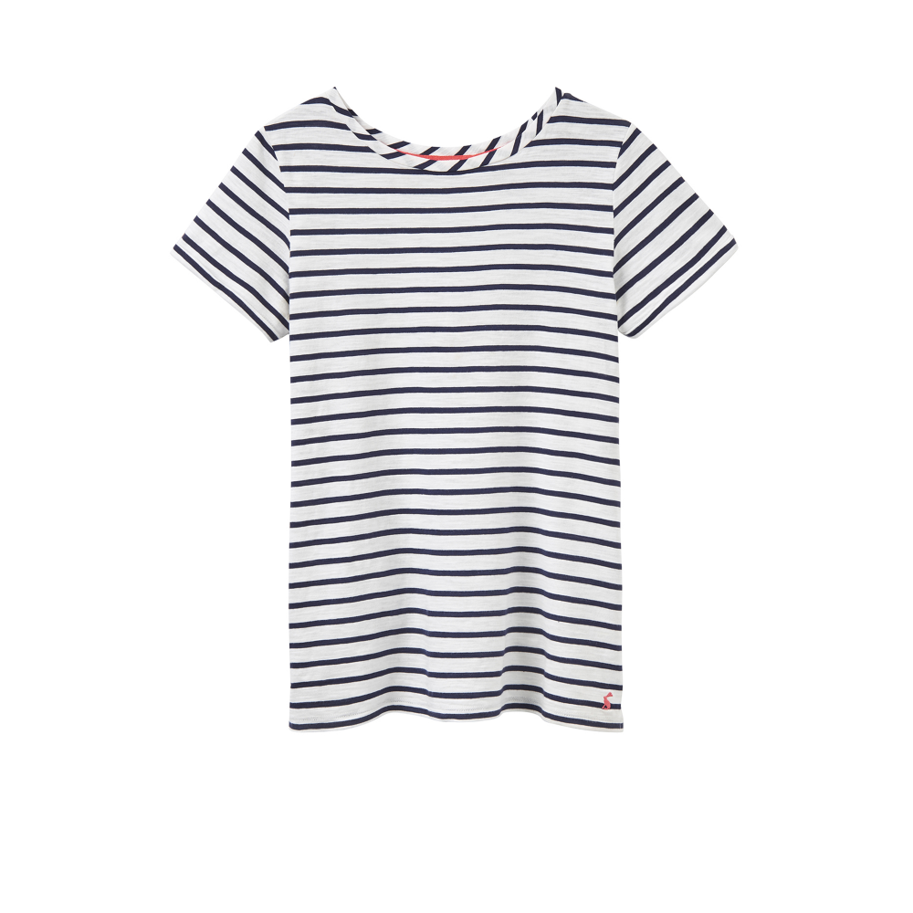 340d407b Joules Nessa Womens Jersey T-Shirt - Creme Stripe - Clothing from ...