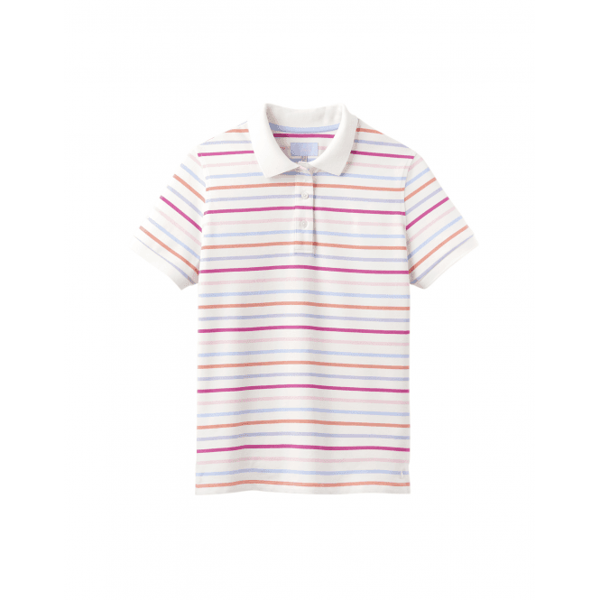 b95a703eb03 Joules Pippa Print Womens Polo Shirt - Multi Stripe - Clothing from ...