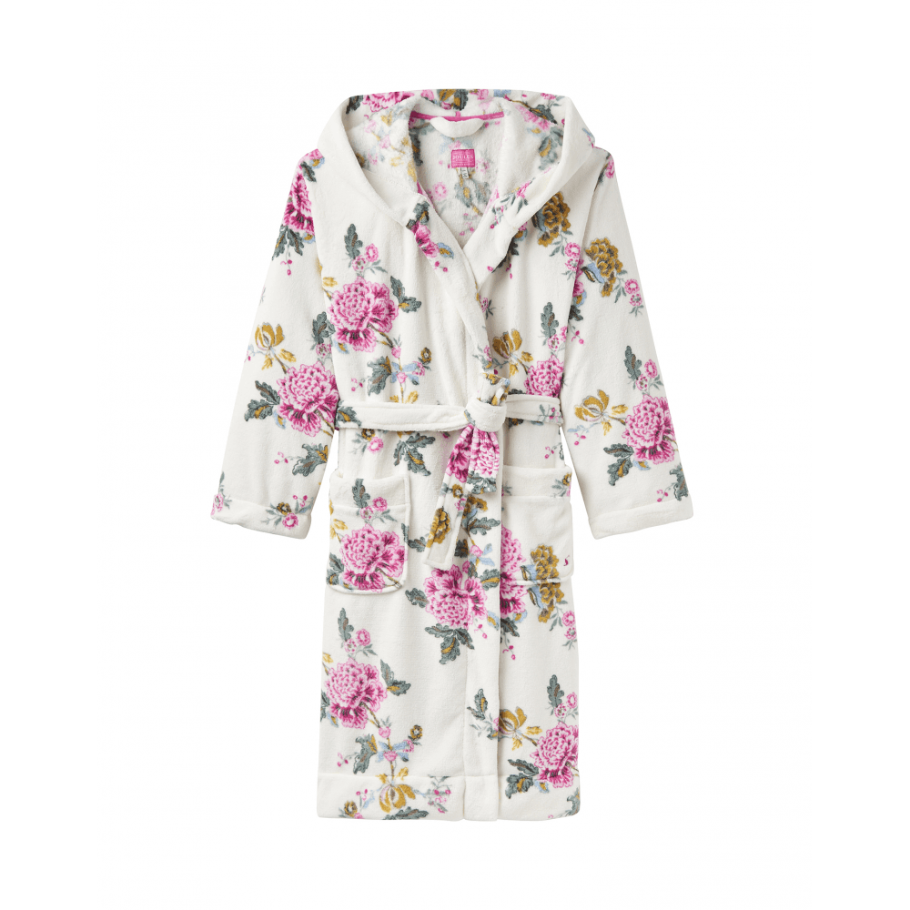 Joules Rita Womens Fluffy Dressing Gown - Cream Chinoise - Clothing ... af2eb0407