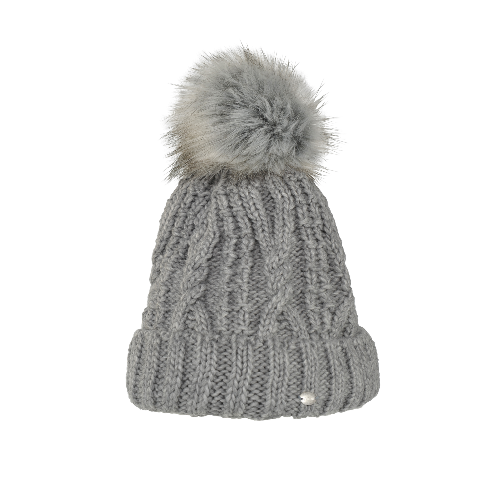 6e23663e3c7692 Pikeur Womens Bobble Hat - Grey Melange - Clothing from Oakfield ...