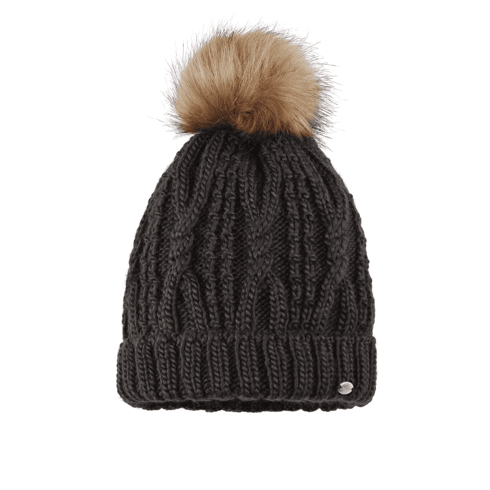 Pikeur Womens Knitted Bobble Hat - Espresso - Clothing from Oakfield ... c09353c75fb