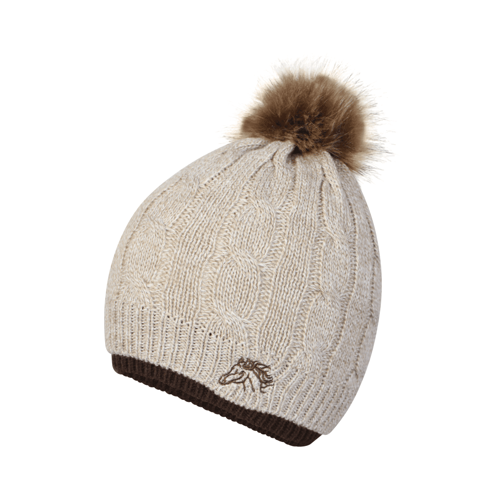 Platinum Accessories Saltburn Ladies Cable Knit Hat With Horse Embroidery 8570a316ac2