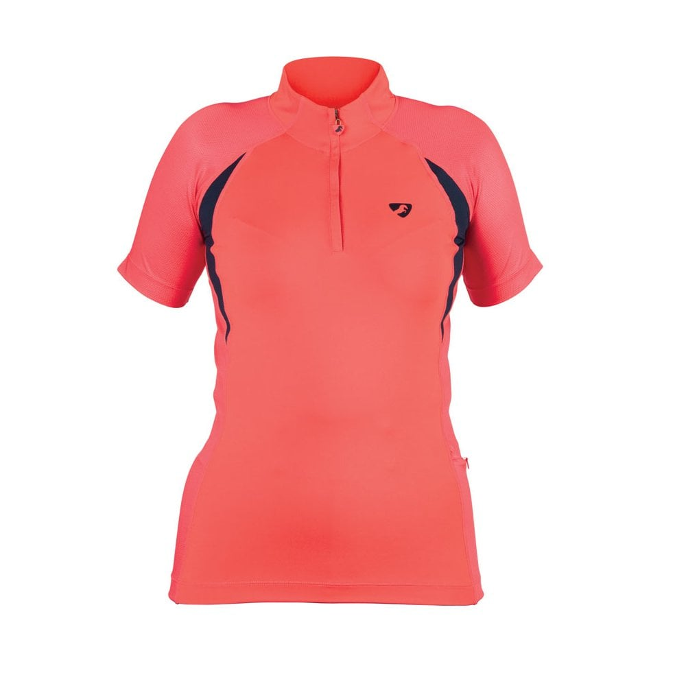 Shires Aubrion Highgate Womens Short Sleeve Baselayer - Coral - Clothing  from Oakfield   Country Fashion Equestrian UK