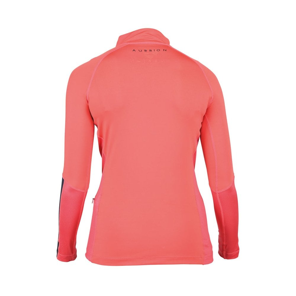 Shires Aubrion Ladies Highgate Short Sleeve Base Layer Shirt in Coral Pink