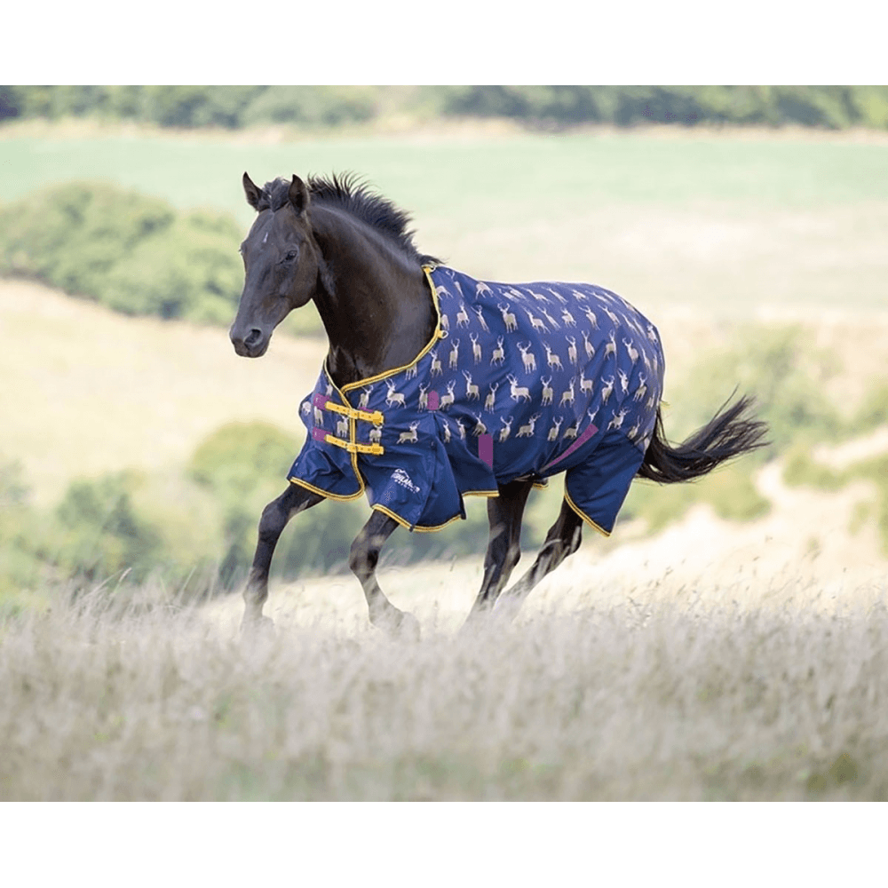 Shires Highlander Original Lite Pony/Horse Turnout Rug - Stags