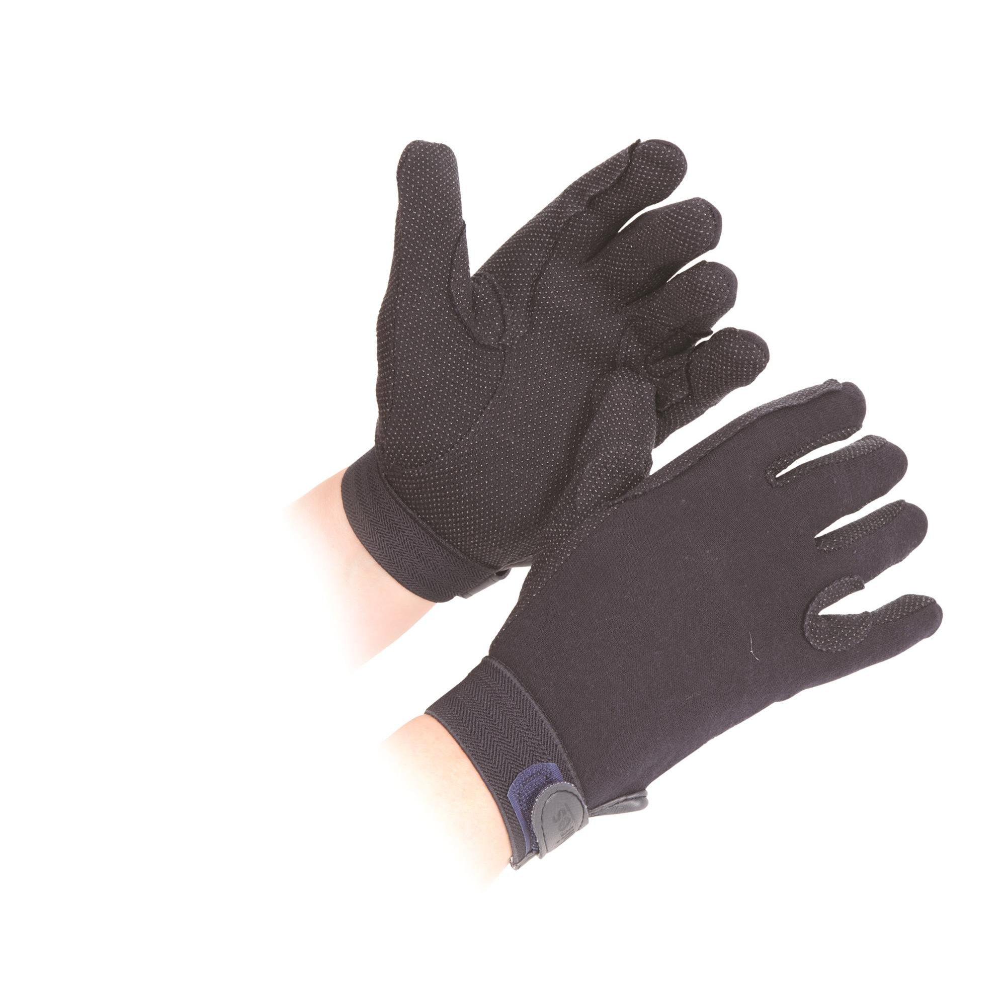 Black Extra Small Shires Newbury Cotton Adults Gloves