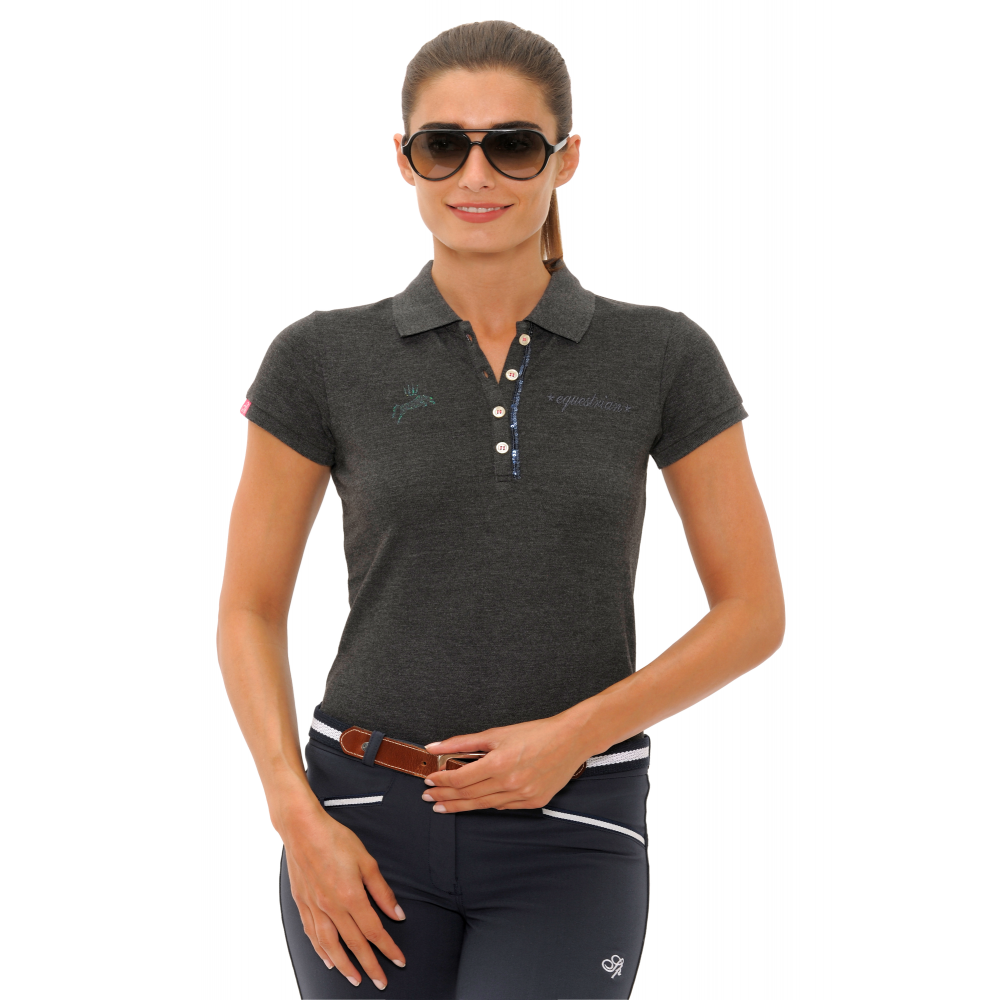 Spooks Nicky Womens Polo Shirt - Dark Grey - Clothing from Oakfield ... c476a2a2ce