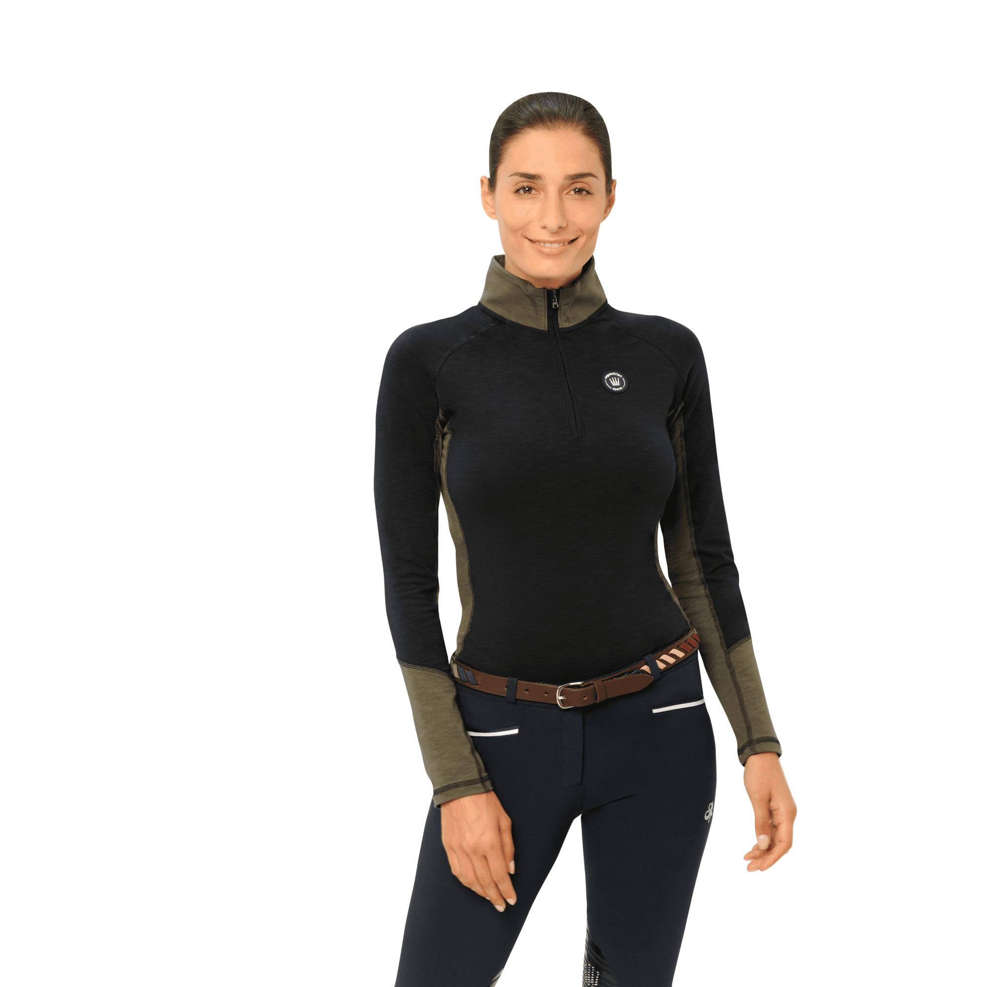 Spooks equestrian Ladies Tilda Long sleeved base layer navy//olive